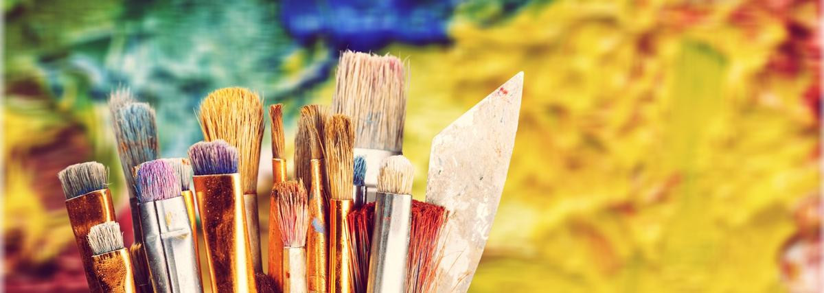 Colourful Brush Pic Header